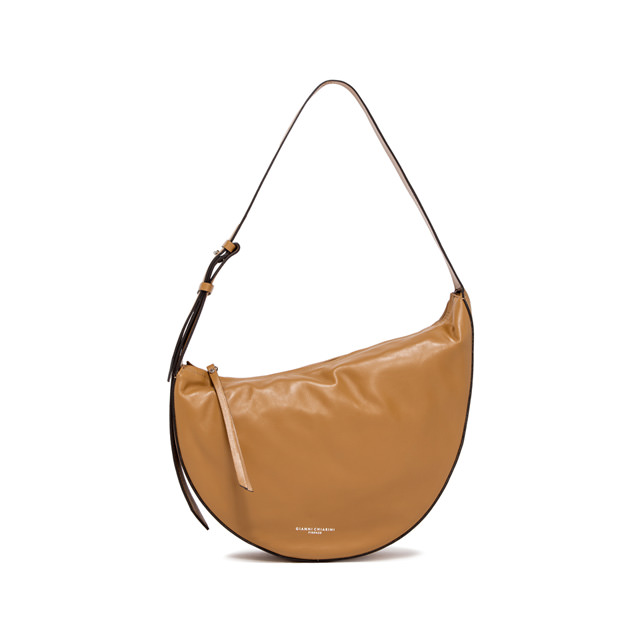 GIANNI CHIARINI: MEDIUM SIZE SWAN SHOULDER BAG COLOR BROWN