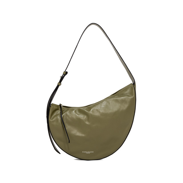 GIANNI CHIARINI MEDIUM SIZE SWAN SHOULDER BAG COLOR GREEN