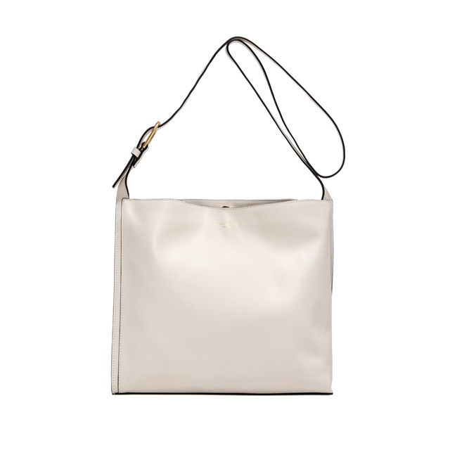 GIANNI CHIARINI LARGE SIZE TWIGGY SHOULDER BAG COLOR WHITE