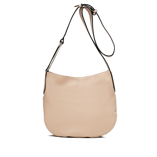 GIANNI CHIARINI ADA LARGE NUDE CROSS BODY BAG