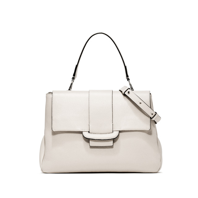 GIANNI CHIARINI CHARLOTTE LARGE WHITE CROSS BODY BAG
