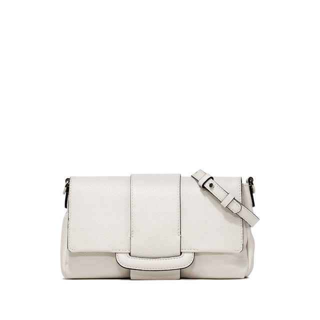 GIANNI CHIARINI: CHARLOTTE MEDIUM WHITE CROSS BODY BAG