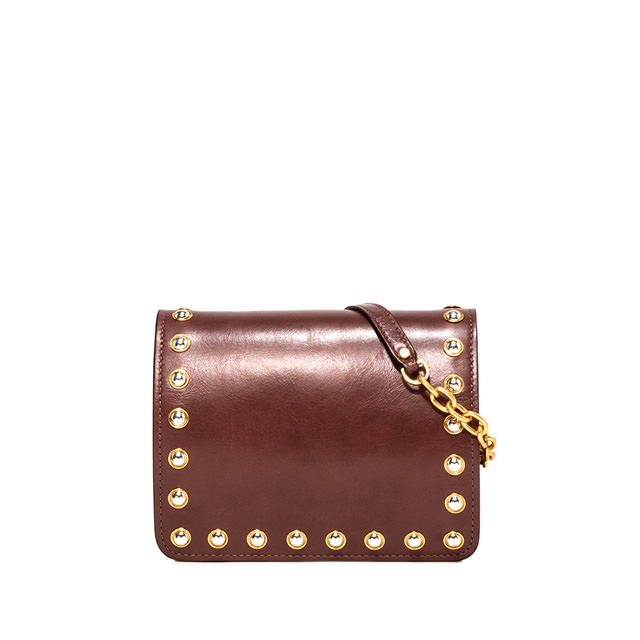 GIANNI CHIARINI SMALL SIZE DAKOTA CROSSBODY BAG COLOR BROWN