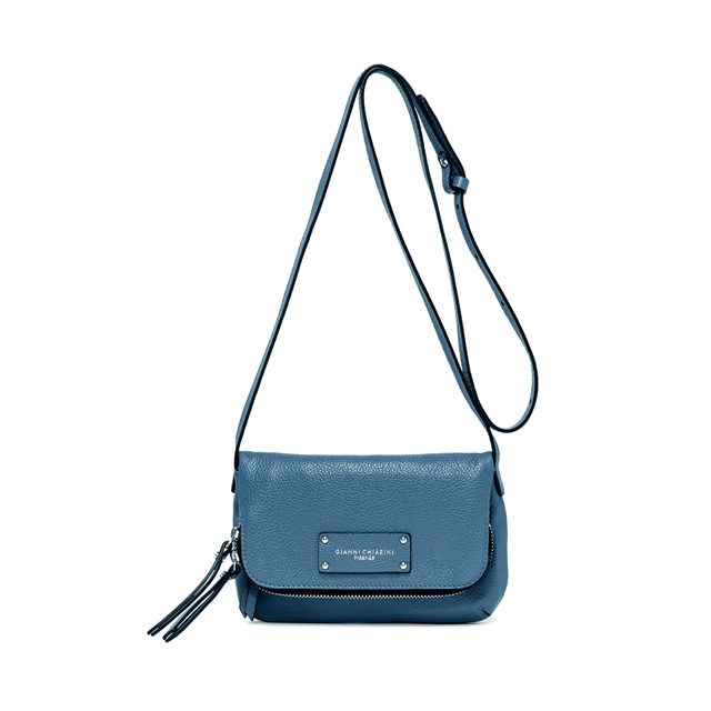 GIANNI CHIARINI DELIA SMALL SKY BLUE SHOULDER BAG