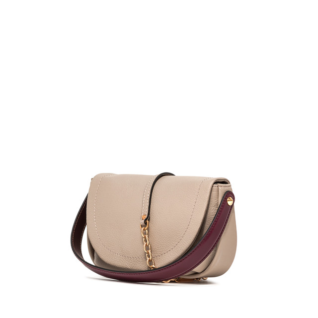 GIANNI CHIARINI MEDIUM SIZE DIANA CROSSBODY BAG COLOR BEIGE