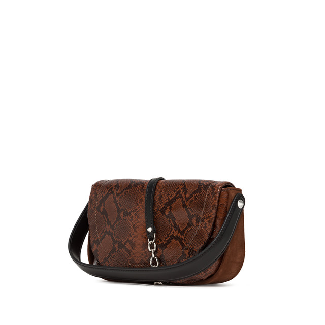 GIANNI CHIARINI: MEDIUM SIZE DIANA CROSSBODY BAG COLOR BROWN