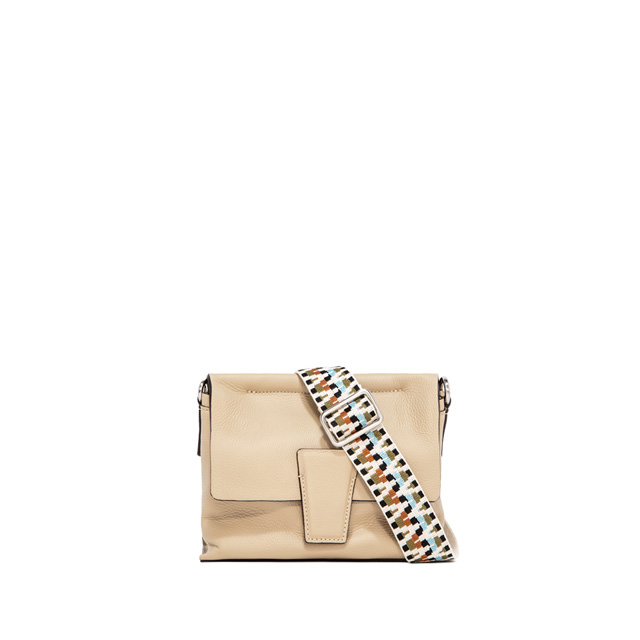 GIANNI CHIARINI SMALL SIZE ELETTRA CROSSBODY BAG COLOR BEIGE