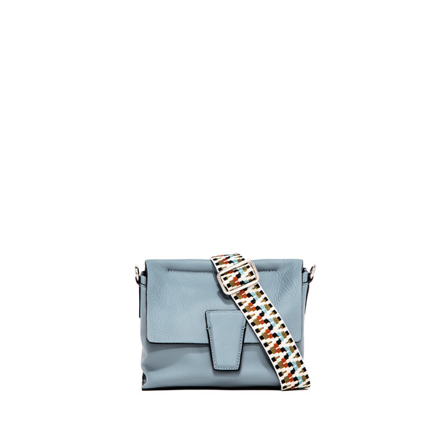 GIANNI CHIARINI: SMALL SIZE ELETTRA CROSSBODY BAG COLOR LIGHT BLUE