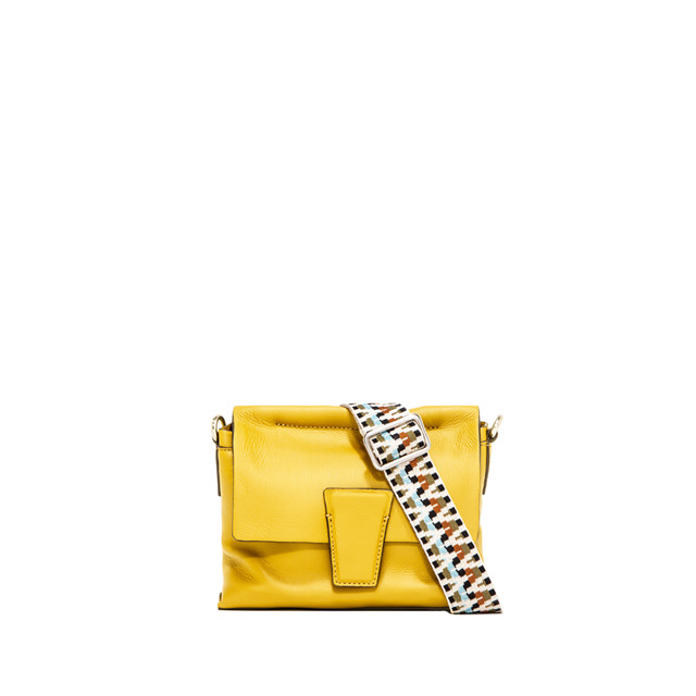 GIANNI CHIARINI: SMALL SIZE ELETTRA CROSSBODY BAG COLOR YELLOW