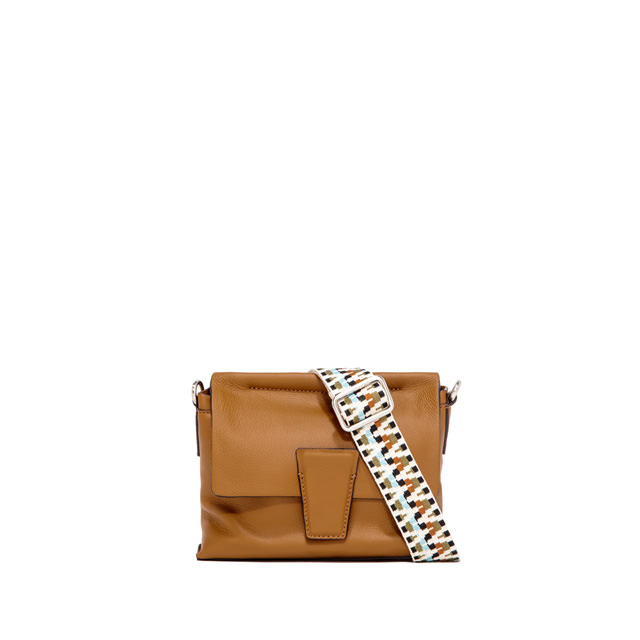 GIANNI CHIARINI: SMALL SIZE ELETTRA CROSSBODY BAG COLOR BROWN
