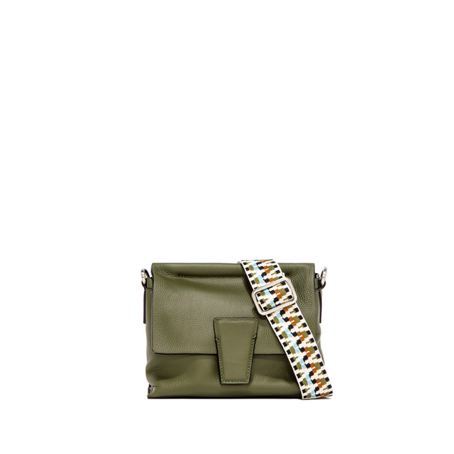 GIANNI CHIARINI SMALL SIZE ELETTRA CROSSBODY BAG COLOR GREEN