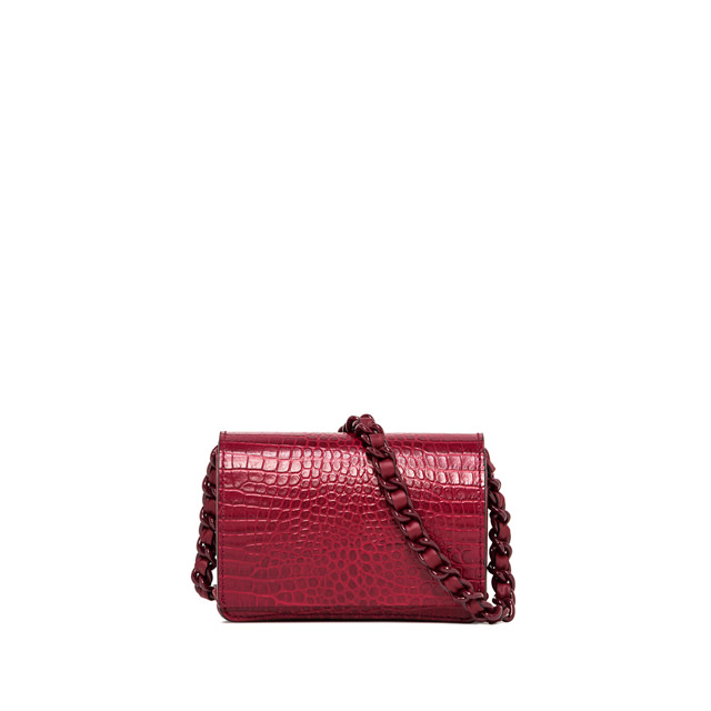 GIANNI CHIARINI SMALL SIZE EMILIA CROSSBODY BAG COLOR BURGUNDY