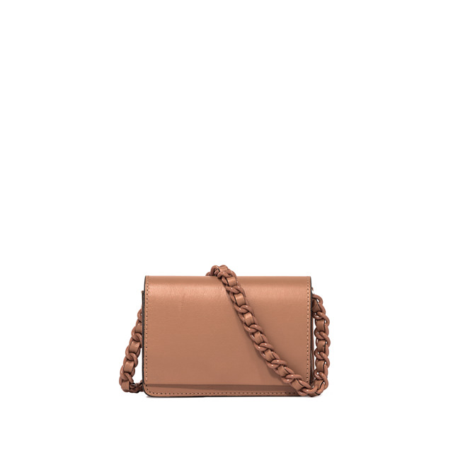 GIANNI CHIARINI: SMALL SIZE EMILIA CROSSBODY BAG COLOR BROWN