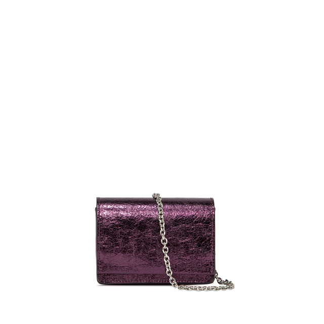 GIANNI CHIARINI: SMALL SIZE EMILIA CROSSBODY BAG COLOR VIOLET