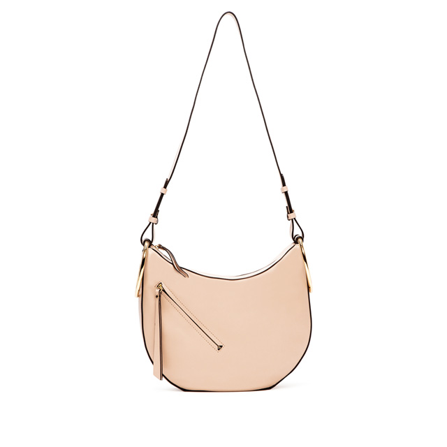 GIANNI CHIARINI EVA MEDIUM NUDE CROSS BODY BAG