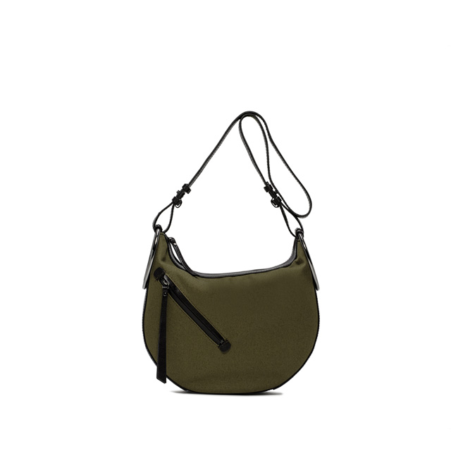 GIANNI CHIARINI EVA MEDIUM GREEN BLACK CROSS BODY BAG