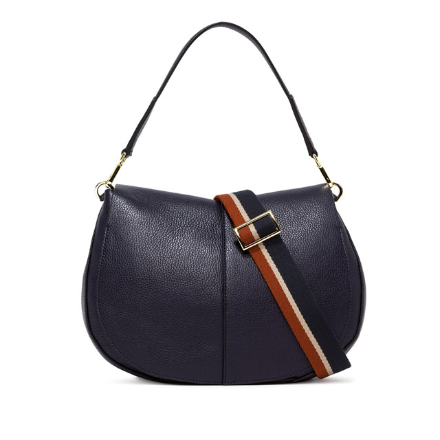 GIANNI CHIARINI: LARGE SIZE HELENA ROUND CROSSBODY BAG COLOR BLUE