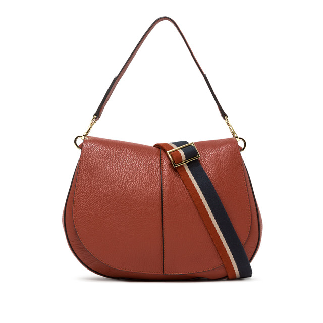 GIANNI CHIARINI LARGE SIZE HELENA ROUND CROSSBODY BAG COLOR RED