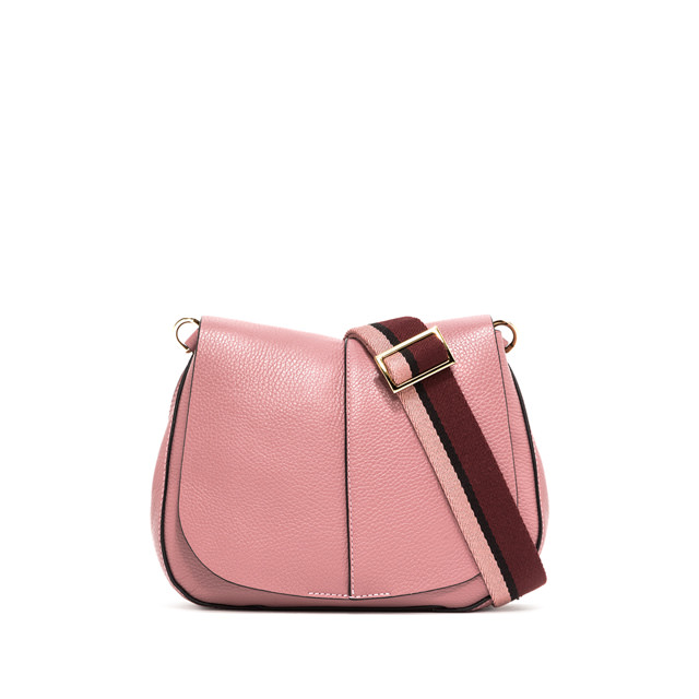 GIANNI CHIARINI MEDIUM SIZE HELENA ROUND CROSSBODY BAG COLOR PINK
