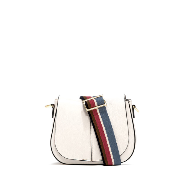 GIANNI CHIARINI HELENA  ROUND  SMALL  WHITE CROSS  BODY  BAG