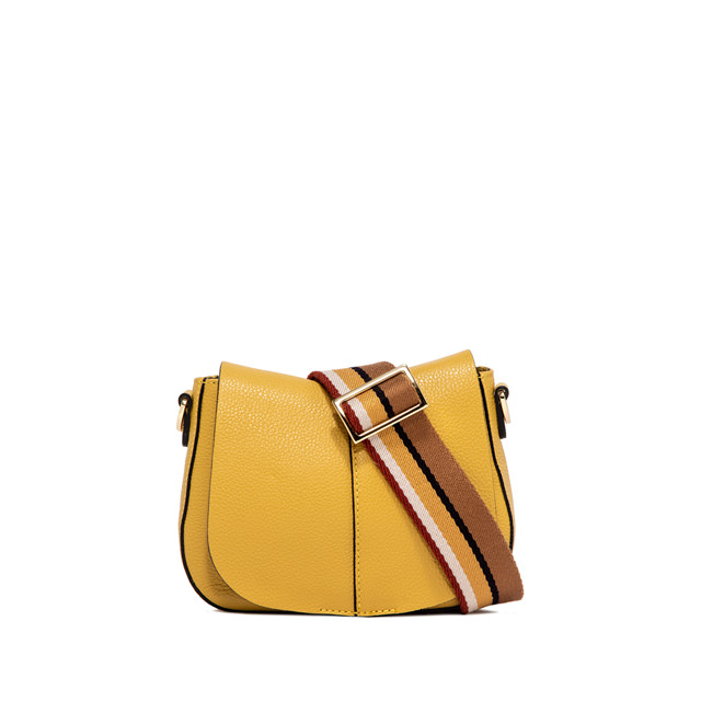 GIANNI CHIARINI HELENA  ROUND  SMALL  YELLOW  CROSS  BODY  BAG