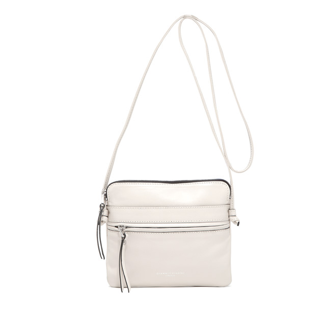 GIANNI CHIARINI: MEDIUM SIZE JOURNEY CROSSBODY BAG COLOR WHITE