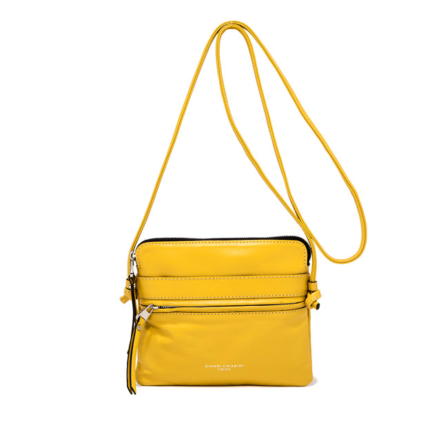 GIANNI CHIARINI: MEDIUM SIZE JOURNEY CROSSBODY BAG COLOR YELLOW