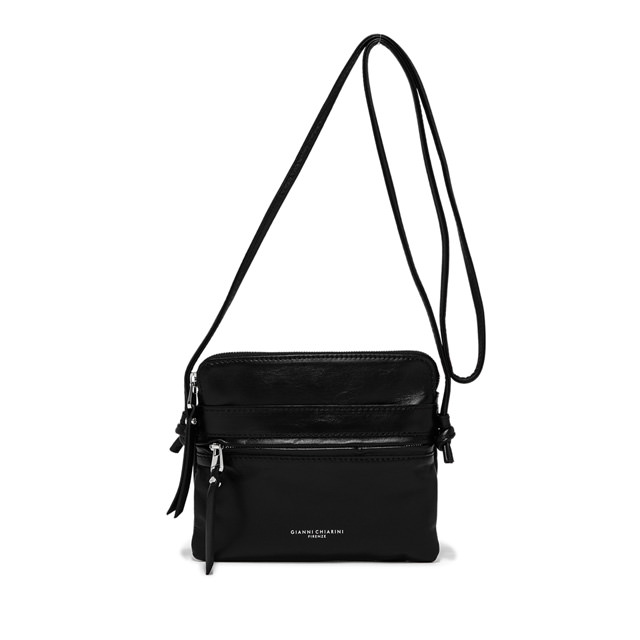 GIANNI CHIARINI: MEDIUM SIZE JOURNEY CROSSBODY BAG COLOR BLACK