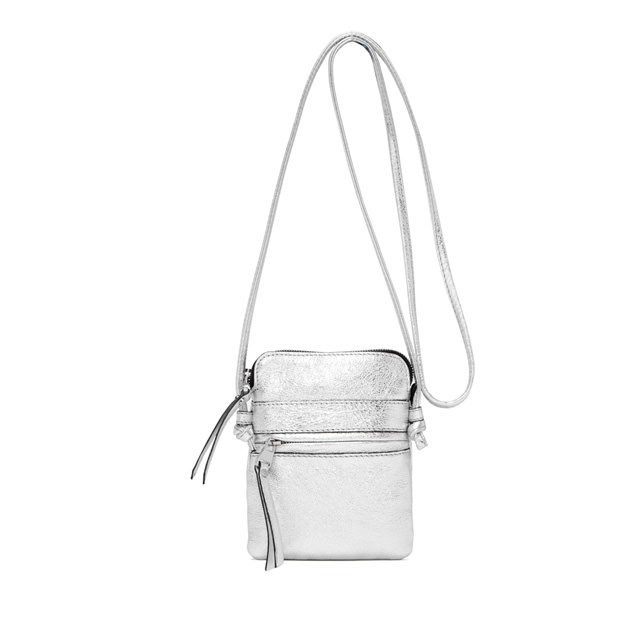 GIANNI CHIARINI SMALL SIZE JOURNEY CROSSBODY BAG COLOR SILVER