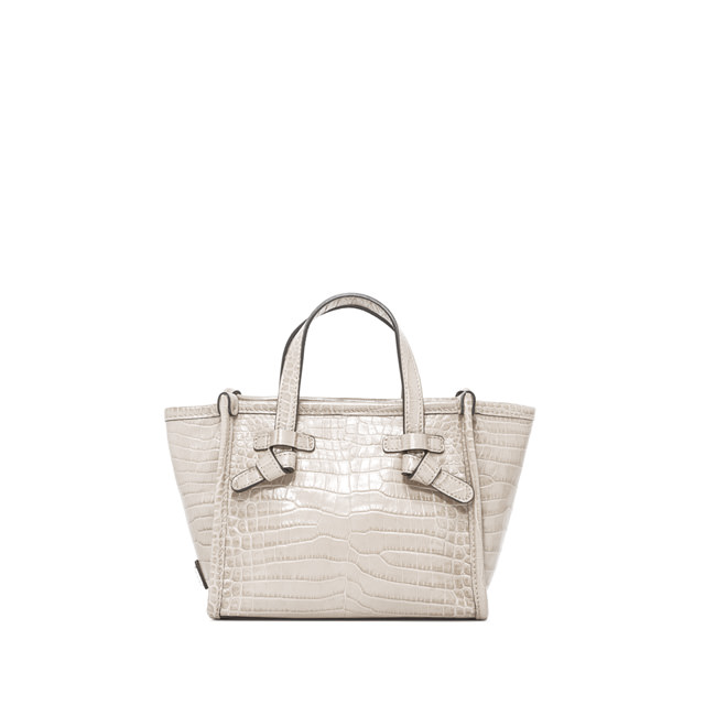 GIANNI CHIARINI: SMALL SIZE MARCELLA CROSSBODY BAG COLOR WHITE
