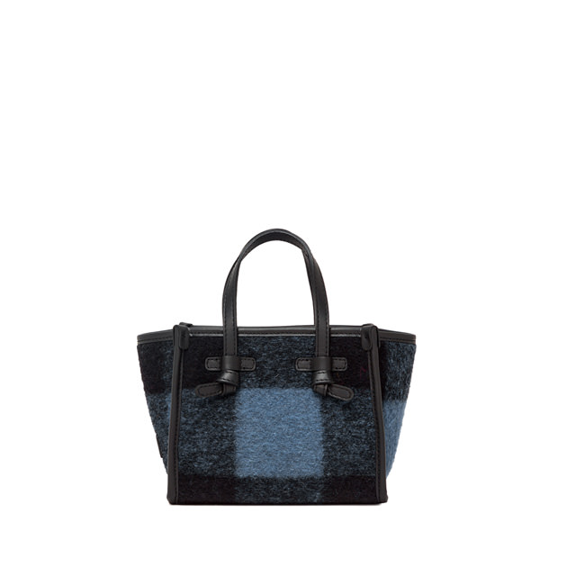 GIANNI CHIARINI: BORSA MINI MISS MARCELLA SMALL BLU