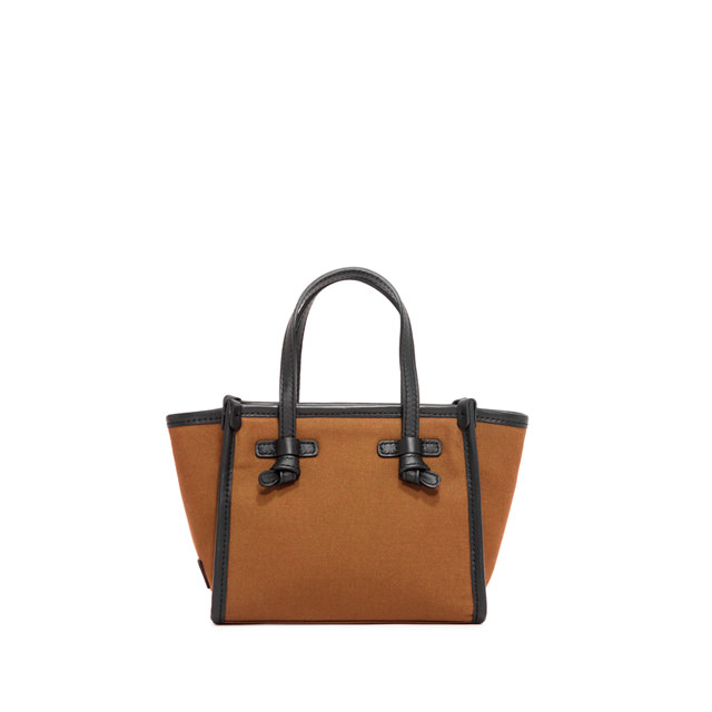 GIANNI CHIARINI: SMALL SIZE MARCELLA CROSSBODY BAG COLOR BROWN