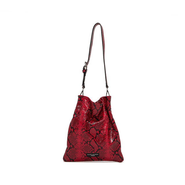 GIANNI CHIARINI: MEDIUM SIZE MEMORY SHOULDER BAG COLOR RED