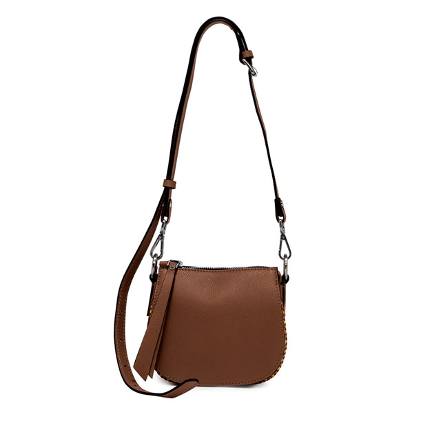 GIANNI CHIARINI BORSA A TRACOLLA MINI BAG FLASH MARRONE