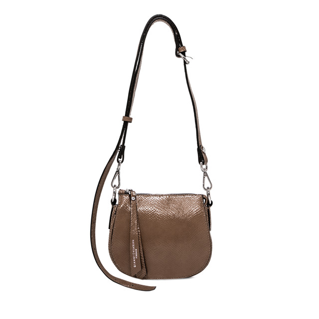 GIANNI CHIARINI: BORSA A TRACOLLA ALICE SMALL MARRONE