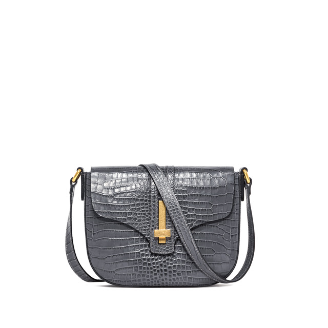 GIANNI CHIARINI MEDIUM SIZE PREZIOSA CROSSBODY BAG COLOR GRAY