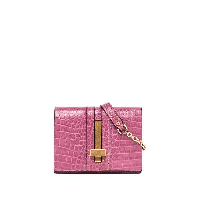 GIANNI CHIARINI SMALL SIZE PREZIOSA CROSSBODY BAG COLOR PINK