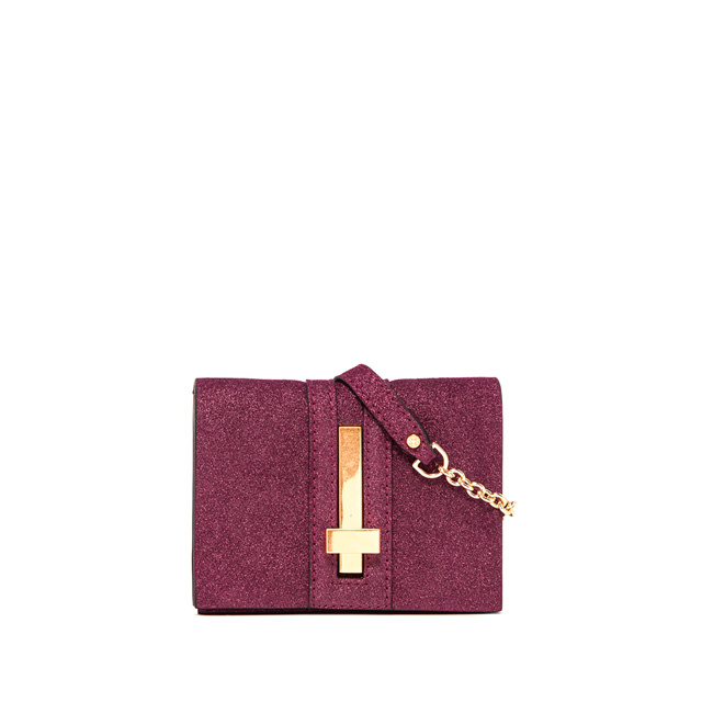 GIANNI CHIARINI SMALL SIZE PREZIOSA CROSSBODY BAG COLOR VIOLET