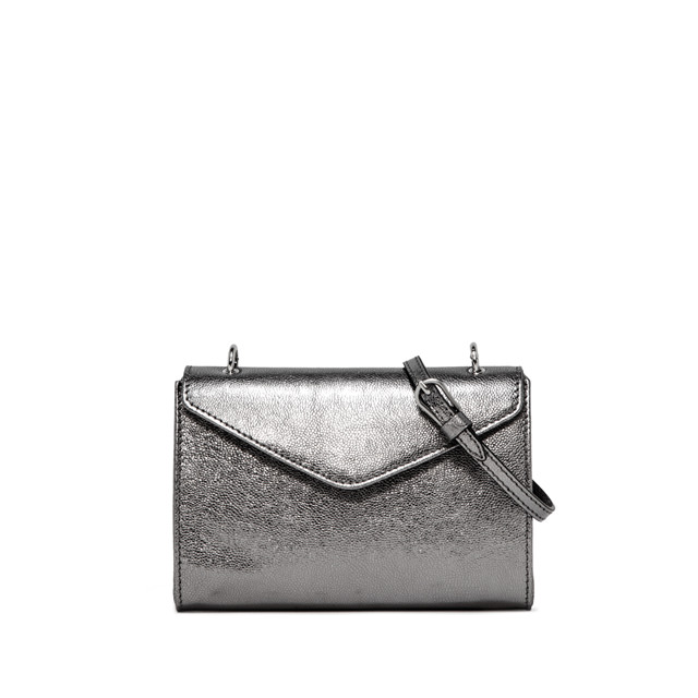 GIANNI CHIARINI PRISCILLA MEDIUM SILVER CROSS BODY BAG