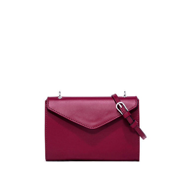 GIANNI CHIARINI PRISCILLA MEDIUM BURGUNDY CROSS BODY BAG