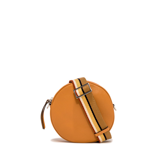 GIANNI CHIARINI: LARGE SIZE TAMBURELLO CROSSBODY BAG COLOR ORANGE