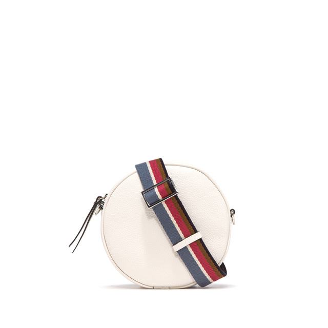 GIANNI CHIARINI: LARGE SIZE TAMBURELLO CROSSBODY BAG COLOR WHITE