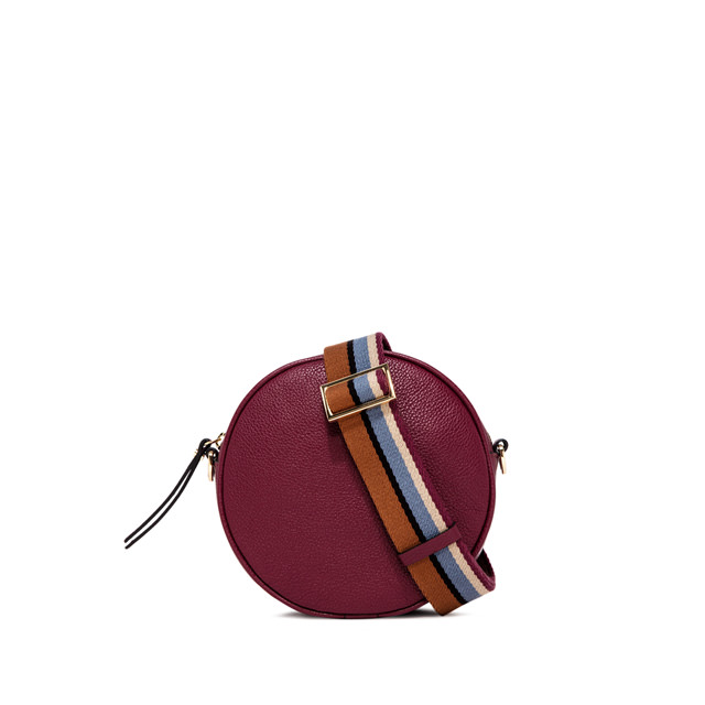 GIANNI CHIARINI: TAMBURELLO LARGE BURGUNDY  SHOULDER BAG