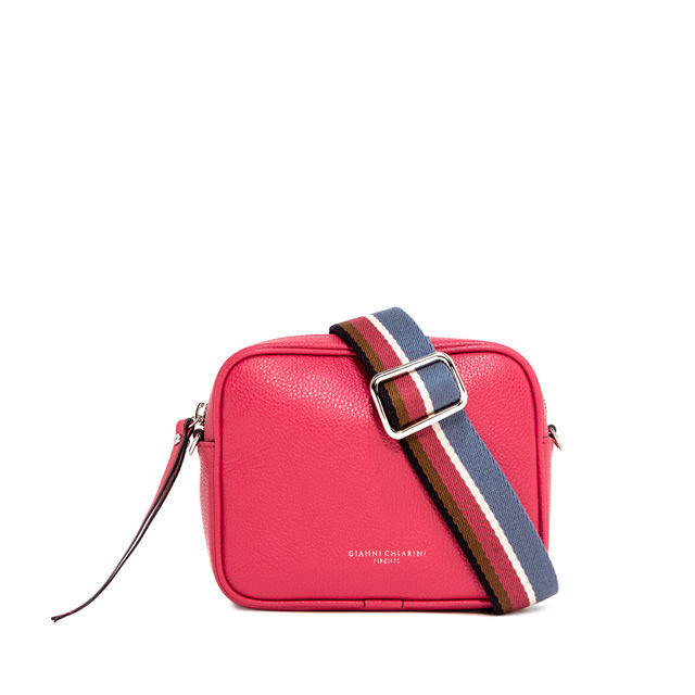 GIANNI CHIARINI: LARGE SIZE TAMBURELLO CROSSBODY BAG COLOR FUCHSIA