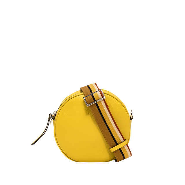 GIANNI CHIARINI: LARGE SIZE TAMBURELLO CROSSBODY BAG COLOR YELLOW