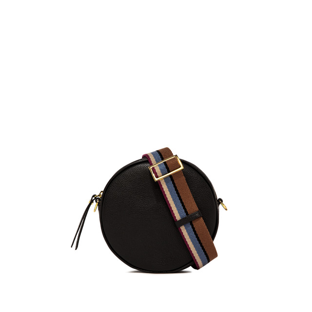 GIANNI CHIARINI: TAMBURELLO LARGE BLACK CROSS BODY BAG