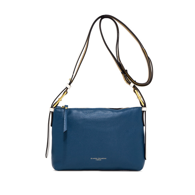 GIANNI CHIARINI: SMALL SIZE TANIA CROSSBODY BAG COLOR BLUE