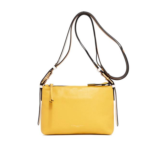 GIANNI CHIARINI: SMALL SIZE TANIA CROSSBODY BAG COLOR YELLOW