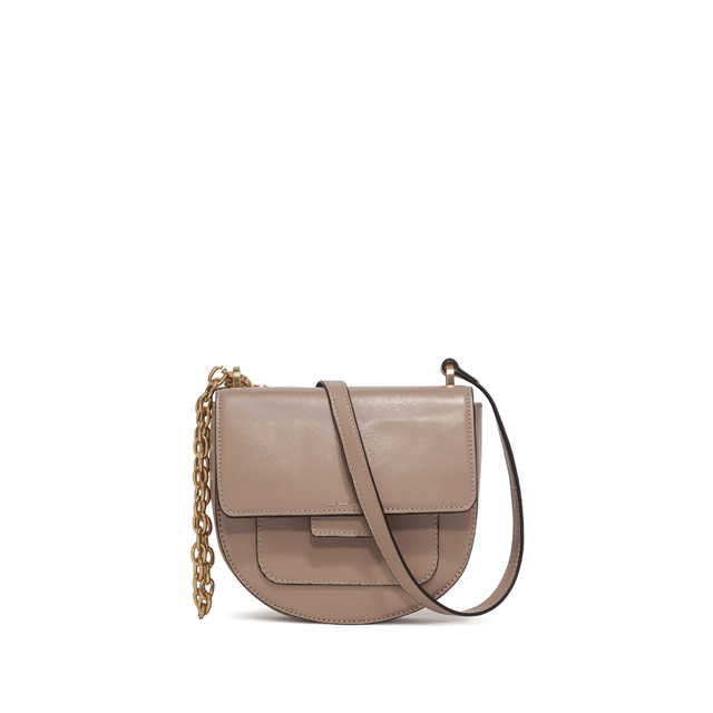 GIANNI CHIARINI: MEDIUM SIZE TERESA CROSSBODY BAG COLOR BEIGE