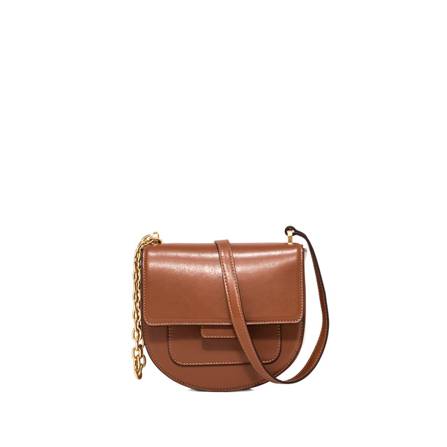 GIANNI CHIARINI MEDIUM SIZE TERESA CROSSBODY BAG COLOR BROWN